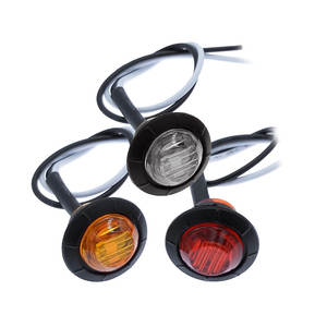 Indicator Light Signal-Lamp Amber Yellow Round LED Trailer Red 12V 12V-24V Trucks