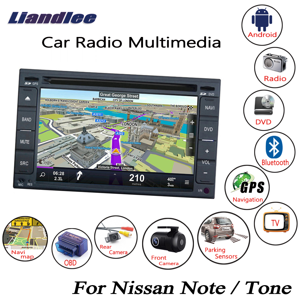 Liandlee Android Car For Nissan Note / Tone 2005~2012 Radio CD DVD Player GPS Navi Navigation Maps Camera OBD TV HD screen Media