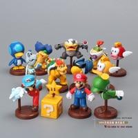 Free Shipping Super Mario Bros Koopalings Bowser Blurp PVC Action Figure Toys Dolls 13pcs Set New