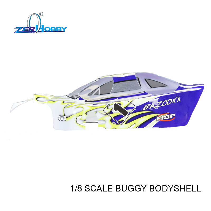 RC CAR SPARE PARTS ACCESSORIES BODY SHELL 37.5*22.5 FOR HSP 1/8 SCALE REMOTE CONTROL BAZOOKA BUGGY CAR 94081 94081GT 94081GT-E9 hsp 62021 center dogbone f 1 8 scale models spare parts for rc model cars himoto 94762