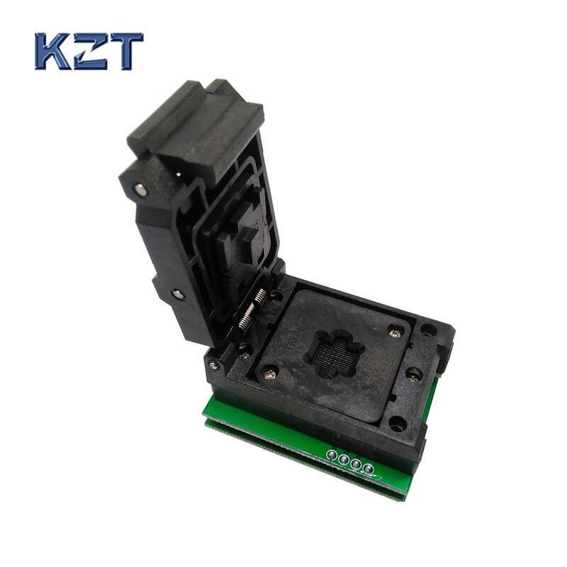BGA24 à DIP8 1.0 MM prise de programmation IC taille 6*8mm/BGA24 IC prise de Test/BGA24 à 8 prise de gravure double carte