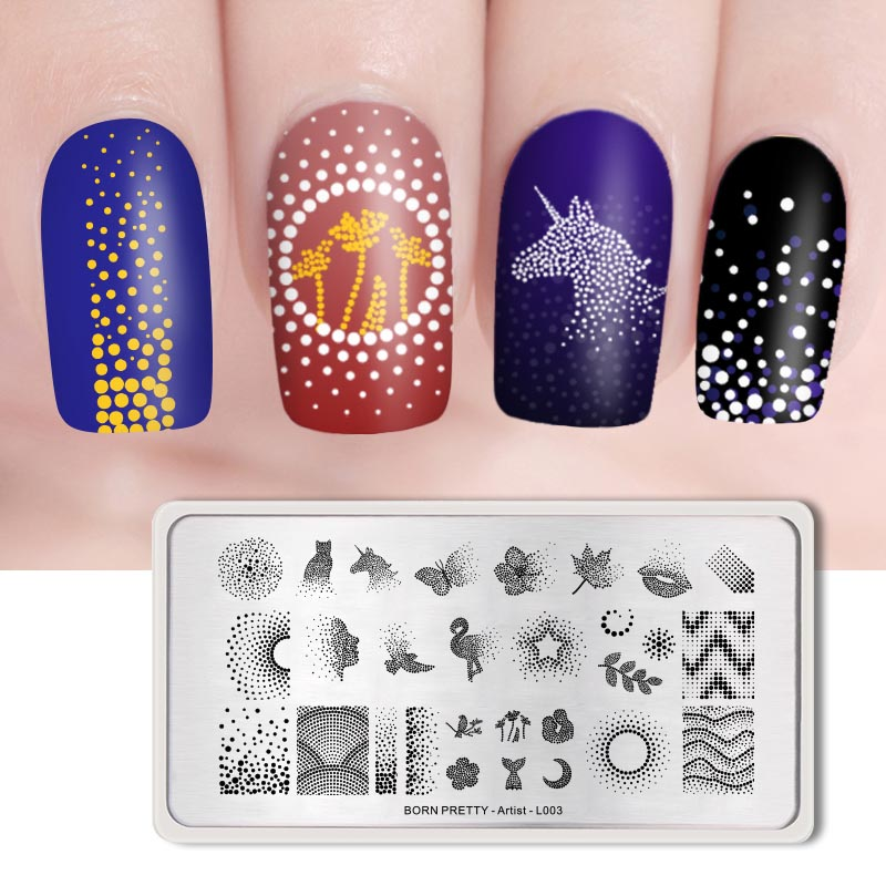 BORN PRETTY Ocean Theme Nail Art Stämpel Mall Sommar Sea Shell Starfish Design Image Nail Stamping Polish Plate DIY Nail Tools