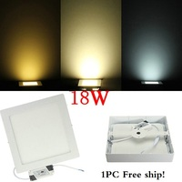 No Cut Ceiling Square 18W Surface Mounted Led Downlight Dimmable Panel Light SMD Ultra Thin Circle
