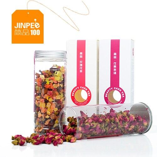 Scented tea rose combo pack rose tea/fruit/raise colour 2 cans of fruit grain of tea tea