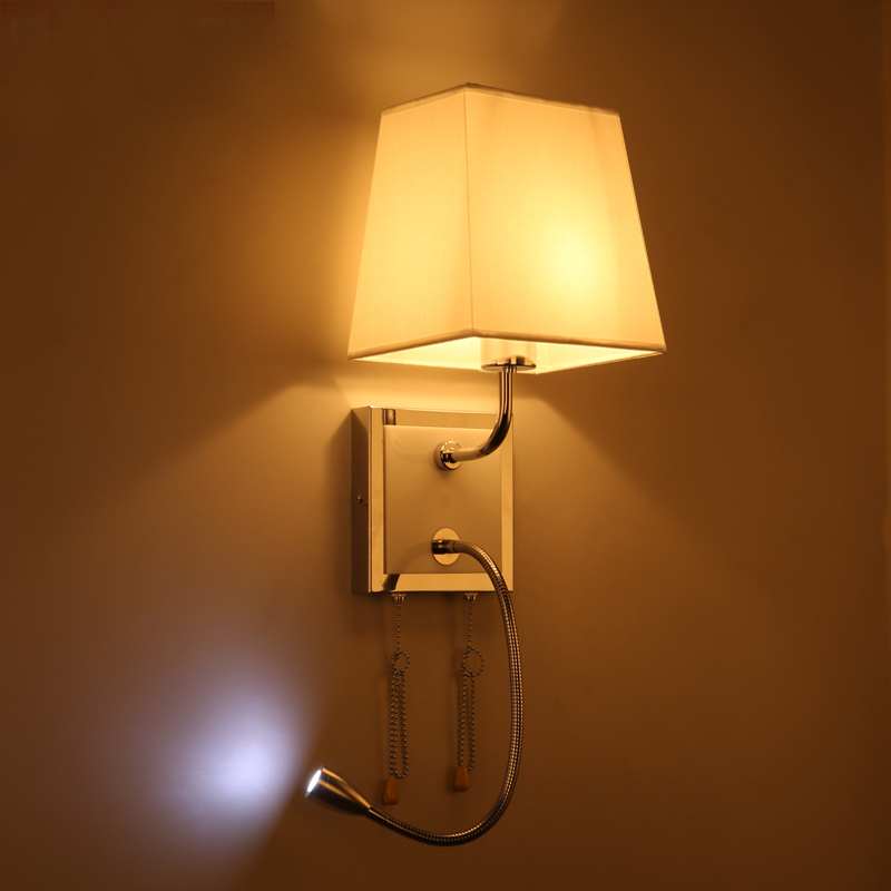 modern led wall lamp lights with led reading light for bedroom home lighting wall sconce switch - Wall Lamps For Bedroom