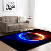 3D Universe Planets Rug Living Room Carpet Boys Room Decoration Mat Baby Crawling Area Rugs Anti slip Soft Bedroom Carpets
