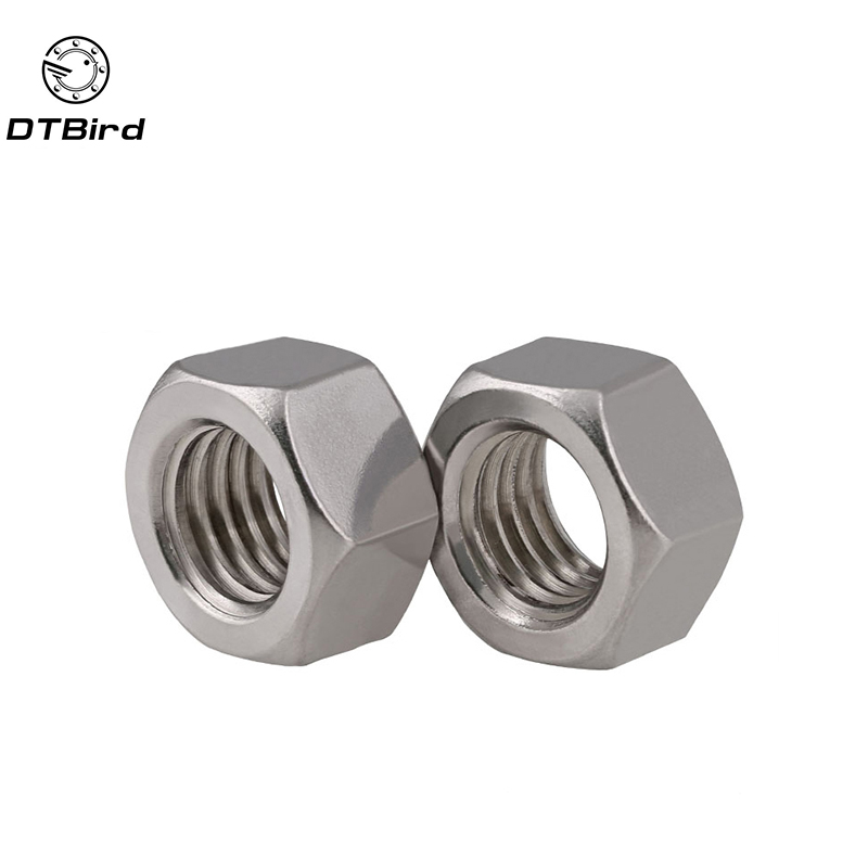 Free Shipping 10pcs/Lot Metric Thread DIN934 M16 304 Stainless Steel Hex Nut Hexagonal Nut Screw Nut A2-70