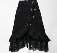 A Line Skirt Online Plus Size Xxl Women S Party Black Lace Steampunk Vintage Skirts