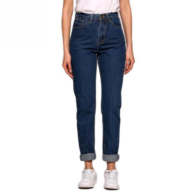 US $12.18 12% OFF Nowe smukłe spodnie ołówkowe Vintage wysokiej talii dżinsy nowe spodnie damskie luźne spodnie kowbojskie imitacja dżinsów Spodnie i