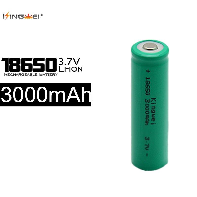 On Sale 100Pcs/lot 18650 Rechargeable 3000mah Li ion Green Battery For LED Flashlight Laser Pen 3.7v 18650