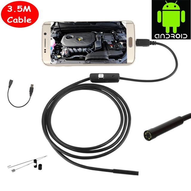 El Más Reciente 5.5mm 6 LEDs Android Smartphone USB OTG Android Cámara de Inspección Endoscopio IP67 A Prueba de agua Con 3.5 M Cable boroscopio