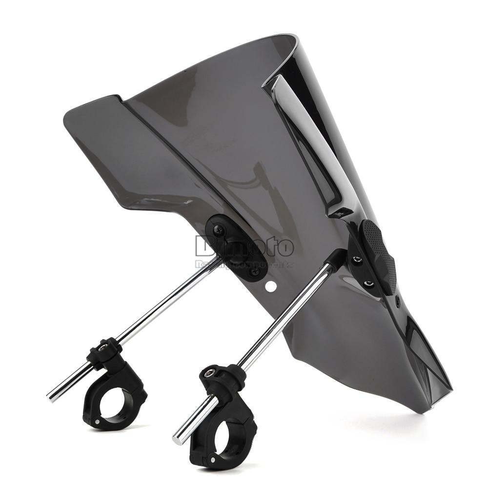Universal Motorcycle Windshield Street Bike Windscreen For 22mm 25mm 28mm Handlebar Motorbikes (7)