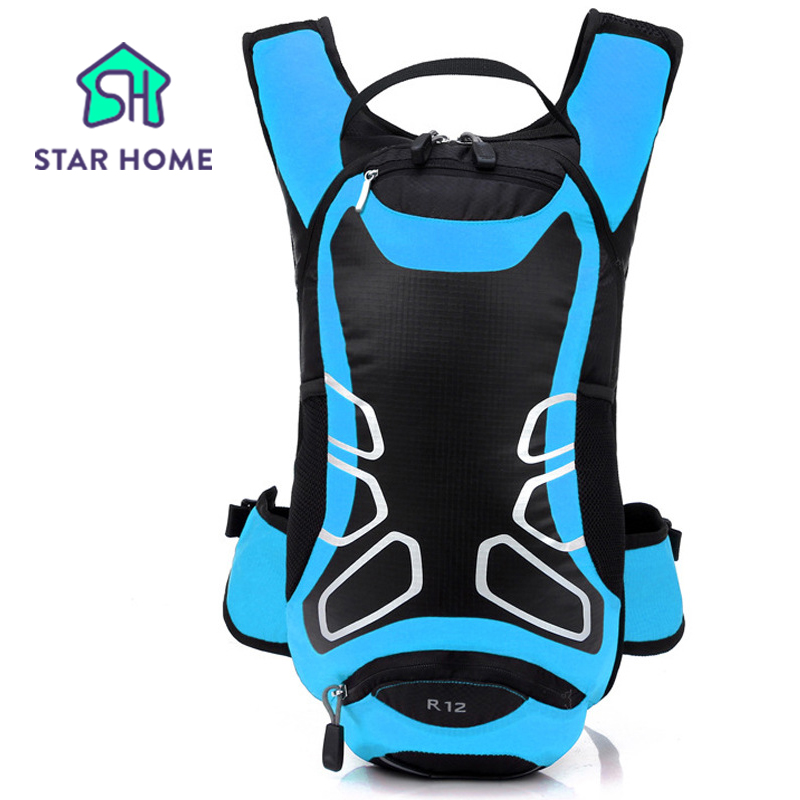 ФОТО STAR HOME Riding Backpack Blue Outdoor enquipment 12L Suspension Breathable Outdoor Riding Backpack Riding Bicycle Cycling Bag