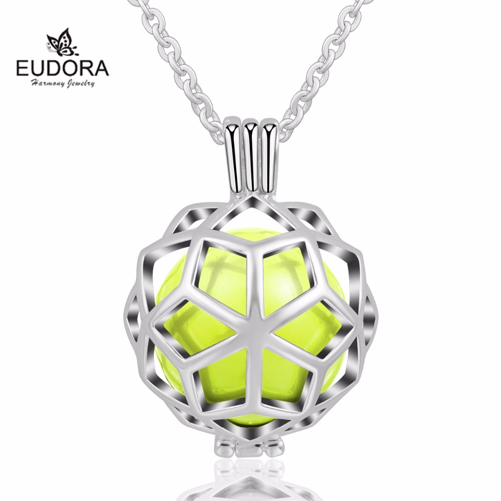 2018 New Hexagon Cage Pendant with 18mm Chime Ball Baby Sound Mexcain Bola Eudora Harmony Ball Pendant