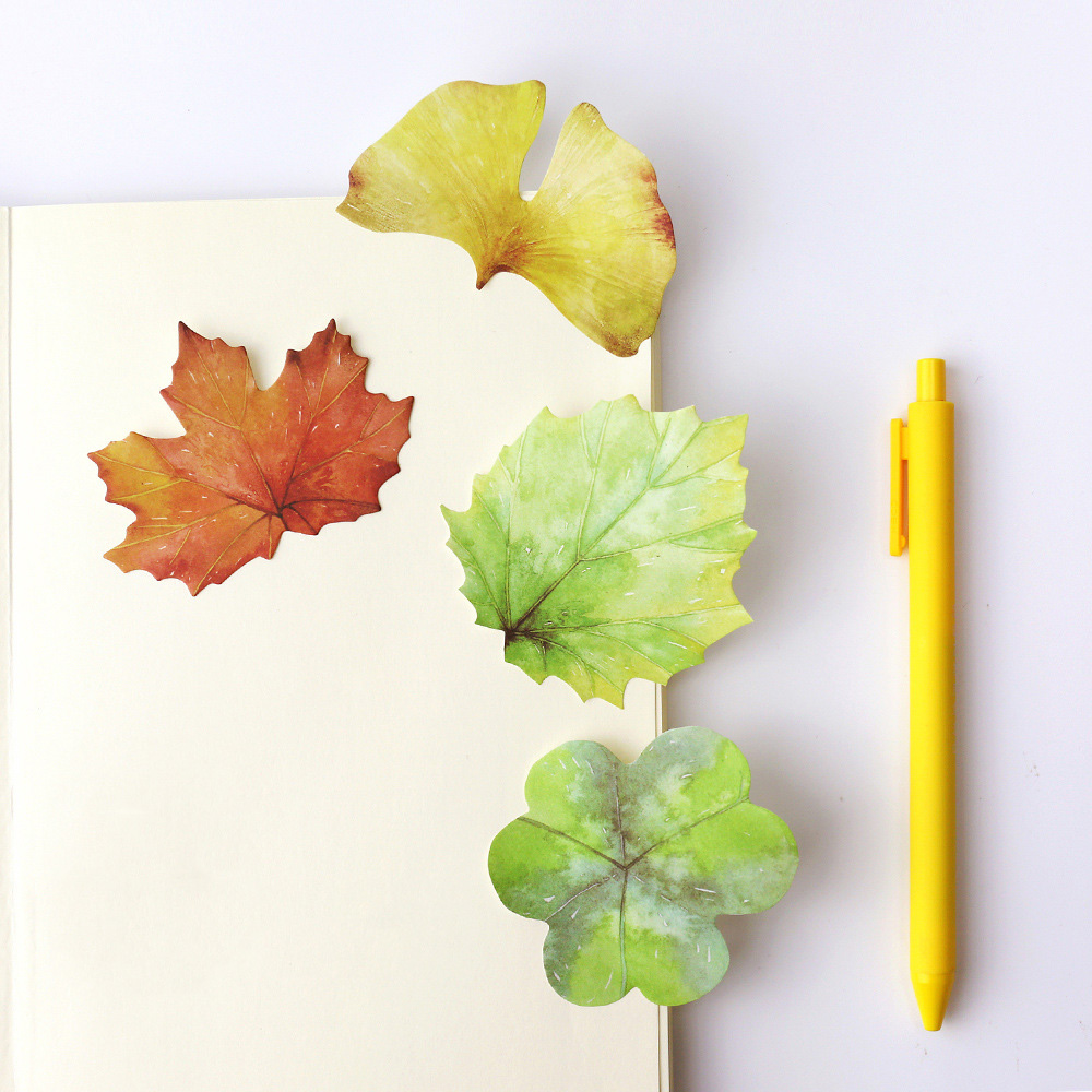 1 PCS Strange Leaves Memo Pad Paper Post Notes Sticky Notes Notepad Stationery Papeleria Office School Supplies