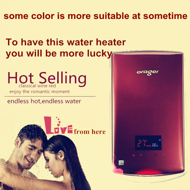 Electric Tankless Flowing Water Heater Shower Shrink Tubing Plumbing Instant Heating Immerse Induction Hot Faucet Sink Tap 8500W