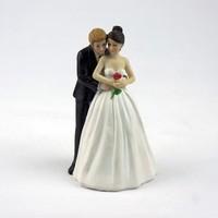 Kostenloser Versand Großhandel Europäischen Braut und Bräutigam Hochzeit Ja, um die Rose-Hochzeit Paar Figurine Harz Kuchen Topper