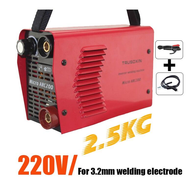 2.5KG Protable Micro DIY IGBT Inversor DC MMA Máquina De Soldadura/Equipamentos de solda/Soldador Eletrodo 3.2MM Adequado/ haste Com Acessório
