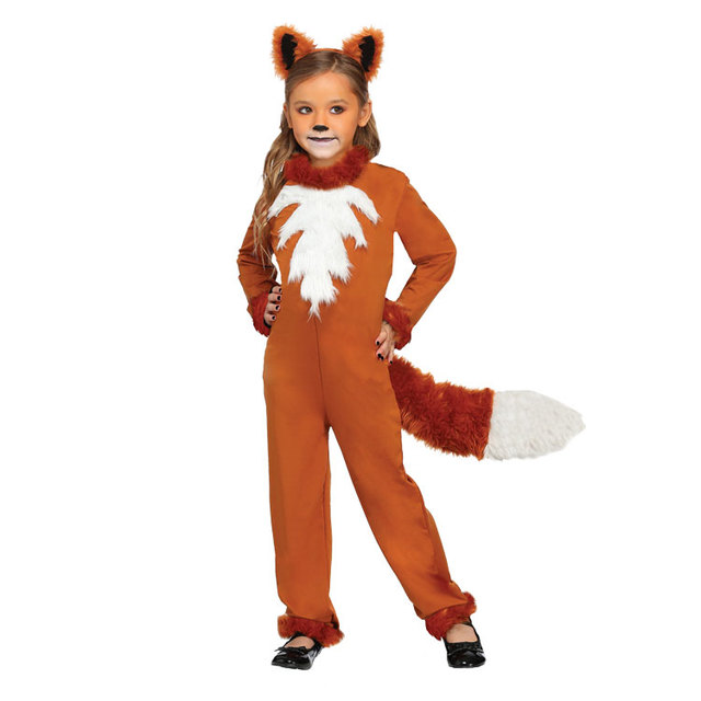 IREK Hot Halloween Costume Party Cosplay Costume Fairy Tales Stage  Performances Animals Children Girls Sly Foxes Costumes HY