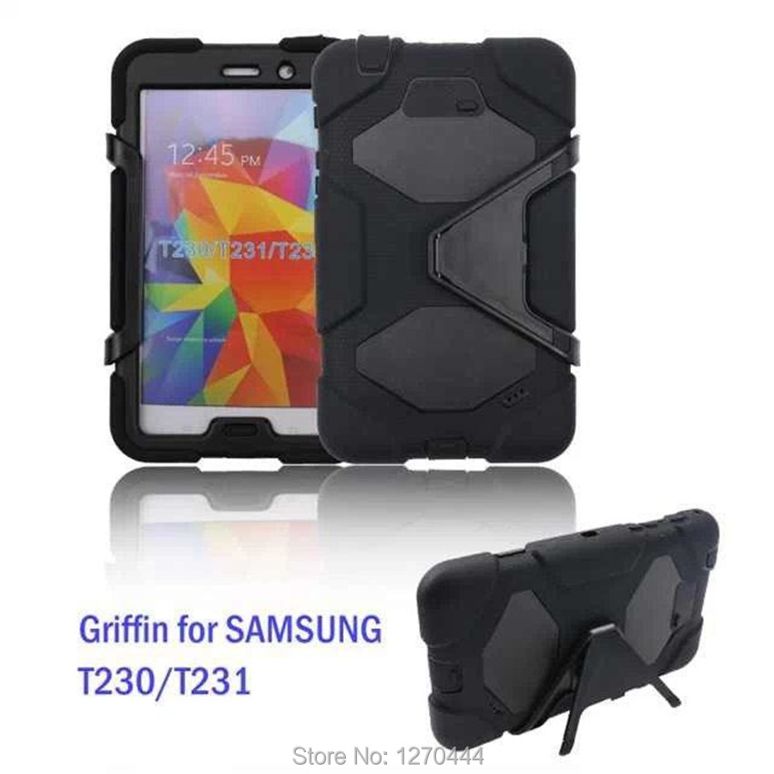 New Shockproof Hard case Military Heavy Duty Silicone Rugged Stand Cover For Samsung Galaxy Tab4 7.0 T230 T231 T235+film+pen+OTG new arrival tough military rugged heavy shockproof dirt proof armor case cover impact on life for ipad 432 free shipping