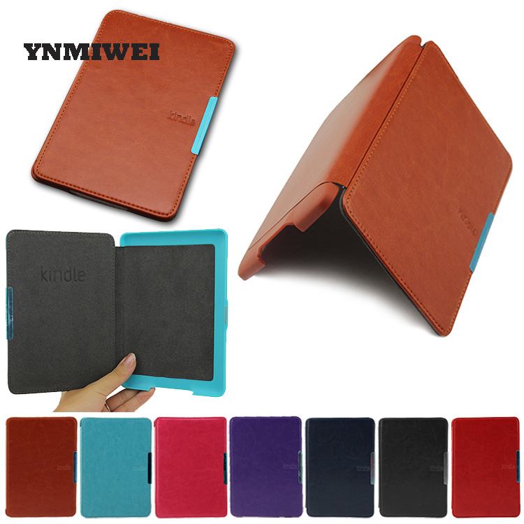 Case Cover For Kindle Paperwhite 123 Ebook PU Leather Folio Flip Smart Sleep Wake up Protective Case Cover Vintage Texture high quality cross pattern ultra slim folio leather case flip wake up sleep smart cover for amazon kindle paperwhite 1 2 3 6