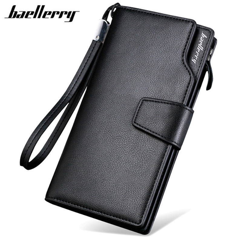 BAELLERRY Men Wallets Male Clutch Purse PU Leather Wallet Long Design Hand Bag Card Holders Carteira Masculina Best Gift HQB1800 men long purse boys teenagers black pu wallet doge shiba inu wallets birthday gifts carteira
