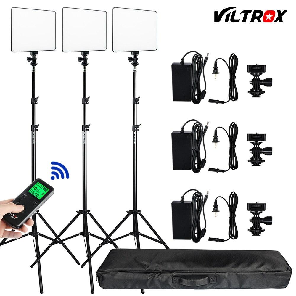 Фотостудия комплект 3 шт. Viltrox VL-200T Беспроводной удаленного двухцветный светодиодный Studio Видео свет лампы Вт/свет стоит + Сумка для DSLR фото
