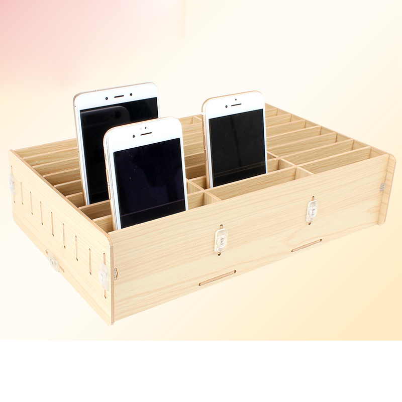 24 Grid Multifunctional Wooden Storage Box Mobile Phone Repair Tool Box Motherboard Accessories Storage Box cute cat pen holders multifunctional storage wooden cosmetic storage box memo box penholder gift office organizer school supplie