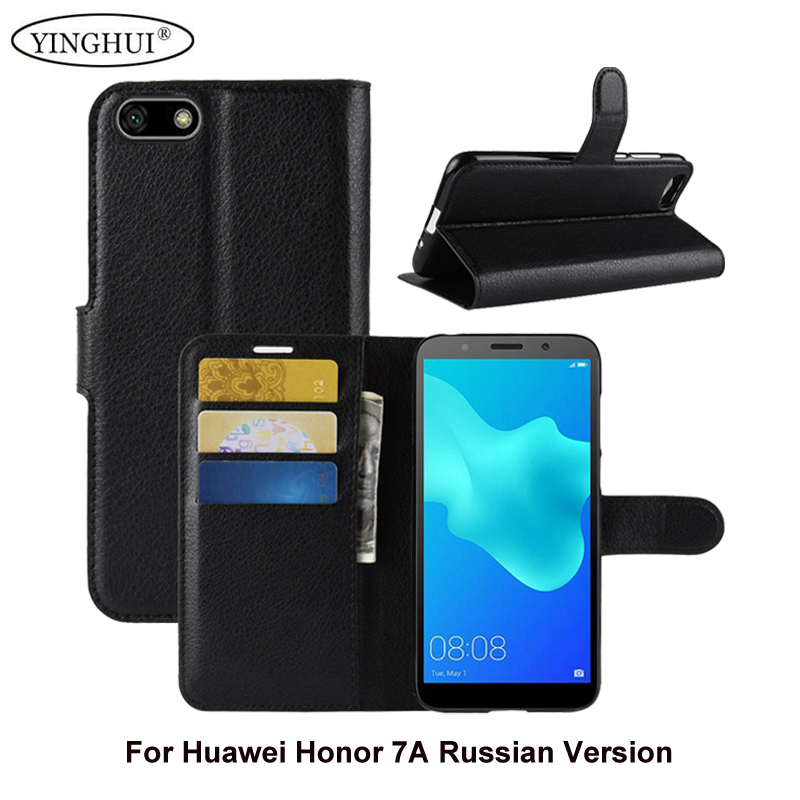 """For Huawei Honor 7A Russian Version 5.45 """" Case Flip PU Leather Stand Cases For Honor 7A Russian Version Card Holder Phone Bag"""