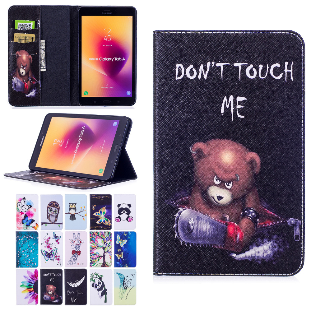 For Samsung Galaxy Tab A 8.0 2017 T380 T385 SM-T380 SM-T385 Tablet Case Print Folio PU Leather Stand Flip Cover Protector Funda bf luxury painted cartoon flip pu leather stand tablet case for funda samsung galaxy tab a 9 7 t555c t550 sm t555