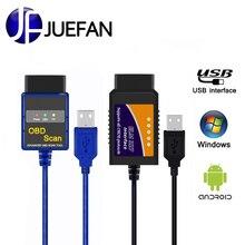 hot Car-detector USB interface ELM327 usb OBD 2 Auto diagnostic scanner OBD2 mini elm 327 car diagnostics tool