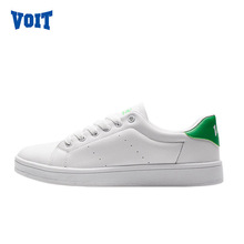 2017 VOIT Summer Women's strolling sneakers light-wearing lace-up pupil trainers hard-wearing White stakeboarding sneakers