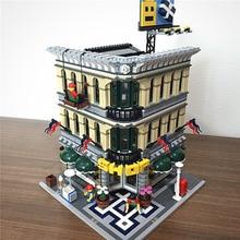 Creator Expert вид на улицу города 15005 2232 шт большой торговый центр устанавливает модель здания Конструкторы совместимые части игрушек 10211