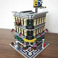 Creator Expert ulica miasta widok 2232 sztuk Grand Emporium Model Building Blocks zestawy klocków kompatybilny Legoinglys 84005 15005 10211