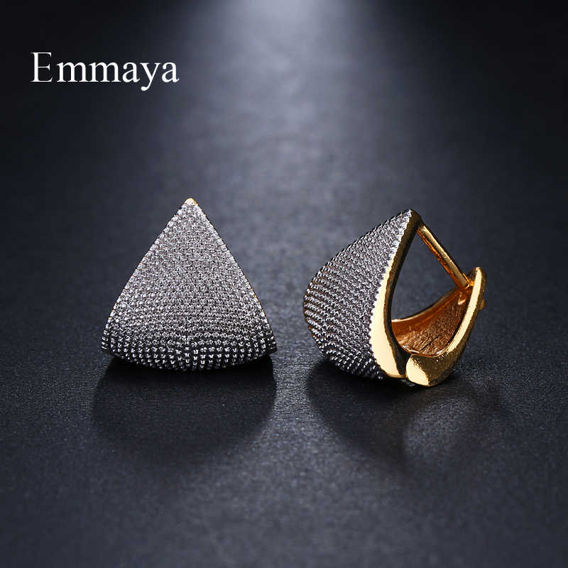 Emmaya Brand Unique Fashion Two Tone Originality Geometric Jewelry Earrings For Woman Charm Wedding Party Gift