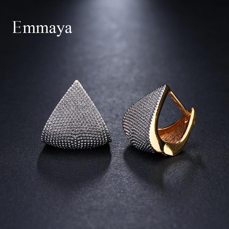 Emmaya Brand Unique Fashion Two Tone Originality Geometric Jewelry Earrings For Woman Charm Wedding Party Gift