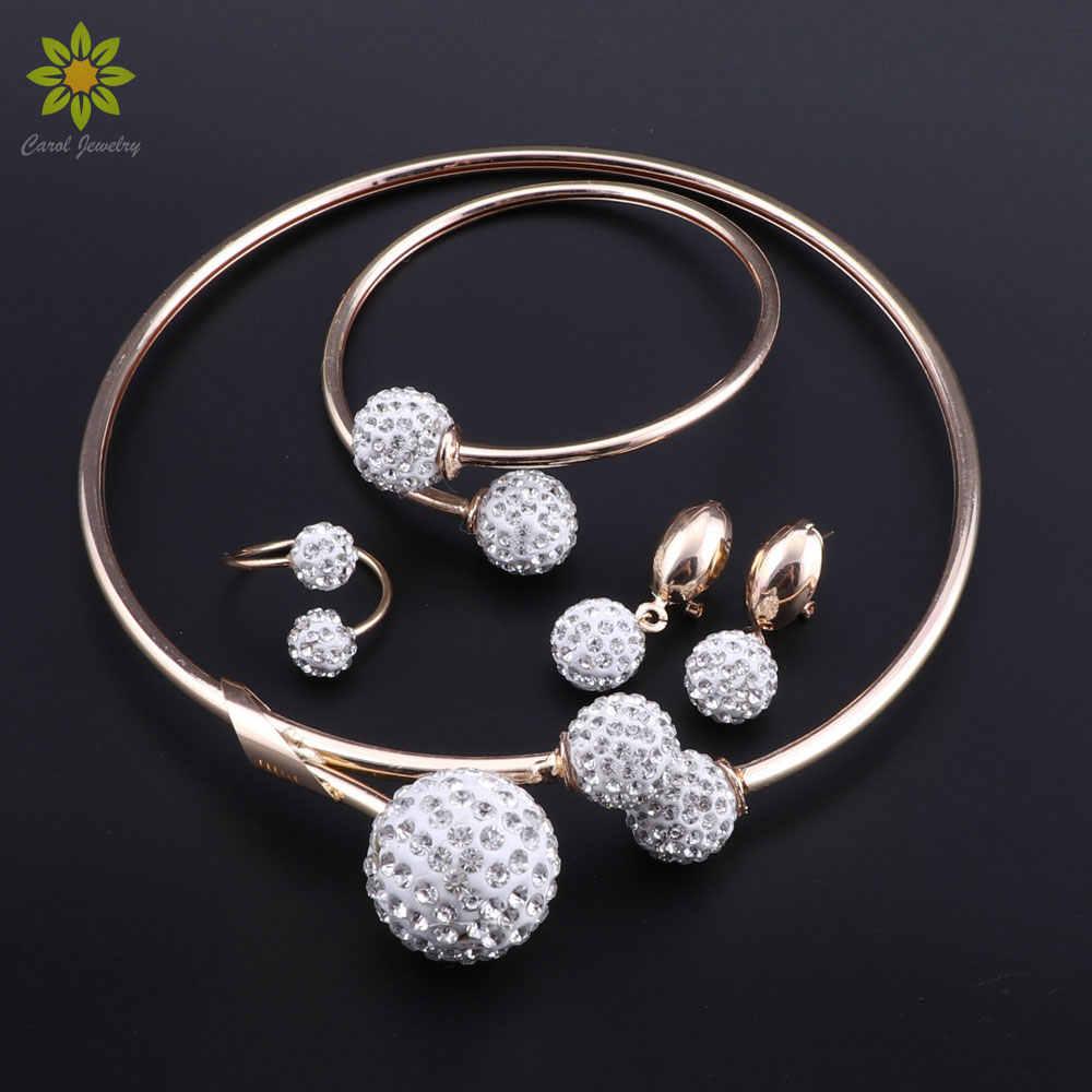 2018 New Arrival Fashion African Jewelry Set Nigerian Wedding Ball Turkish Ethiopian Bridal Women Costume Jewelry Set