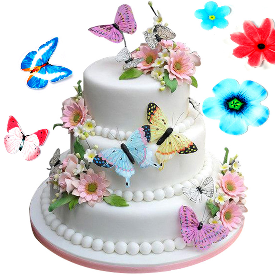 Astounding Transhome Cake Decorating Tools 30 Pcs Set Butterfly Edible Personalised Birthday Cards Beptaeletsinfo