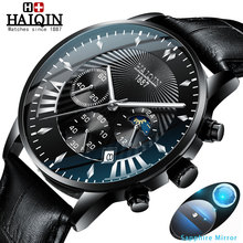 HAIQIN Mens watches top brand luxury sport Watches Quartz wristwatch male Mliltary watch men waterproof Reloj hombres 2019