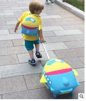 7dc9df9a3 Maleta con ruedas para niñas de dibujos animados maleta para los niños de  viaje maleta de equipaje rodante maleta mochila