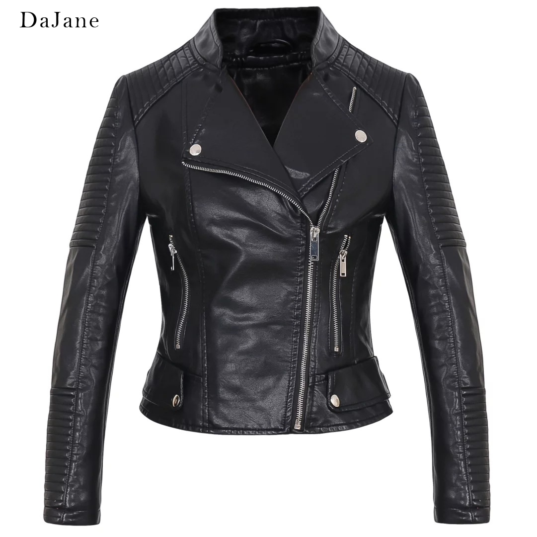 Autumn New Couple In This women's long-sleeved PU   Leather   Coat Jacket Manufacturers   Leather   Jacket Women