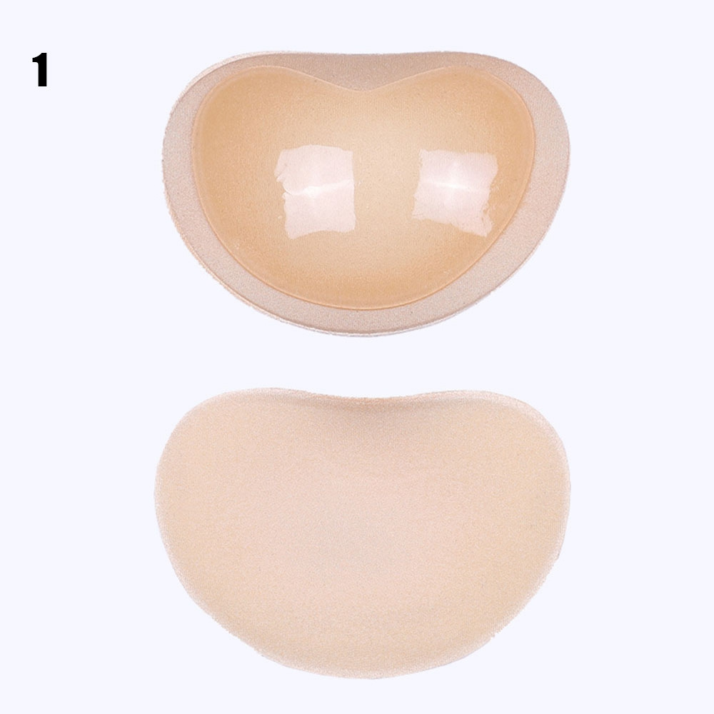 Swimsuit Bikini Push Up Padded Swimsuit Small Bust Thicker Breathable Insert Sponge Bra Pads Self-Adhesive Invisible Chest Pads