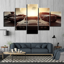 HD Printed 5 panels Rome Muscle Car Paintings Canvas Wall Art Pieces automobile car posters Framework F1882