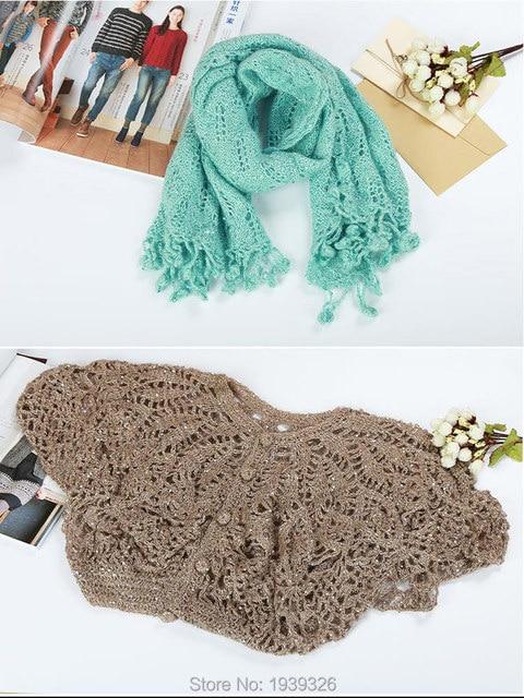 Tienda Online 4 unids lentejuelas lana fina de tejer ganchillo ...