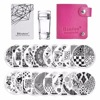 New Manicure Nail Template Stamp Plates Image Nails Art Stamping Plate Scraper Stamper Set Negative Space