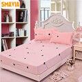 Cama sábana ajustable con pillowcase3pcs SMAVIA hoja de cama 120*200 cm/150*200 cm/180*200 cm cama Colchón almohadilla de protección Protector de la hoja