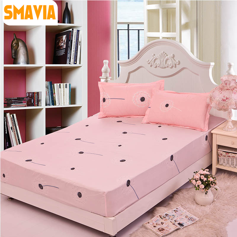 SMAVIA Bed Fitted Sheet With Pillowcase3pcs Bed Sheet  120*200cm/150*200cm/180*200cm Bed Protection Pad Mattress Protector Sheet In  Bedspread From Home ...