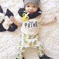 Новорожденных, детской Одежды, Малыш Мальчик Лета Малышей Наряд футболка + Длинные Брюки/Брюки