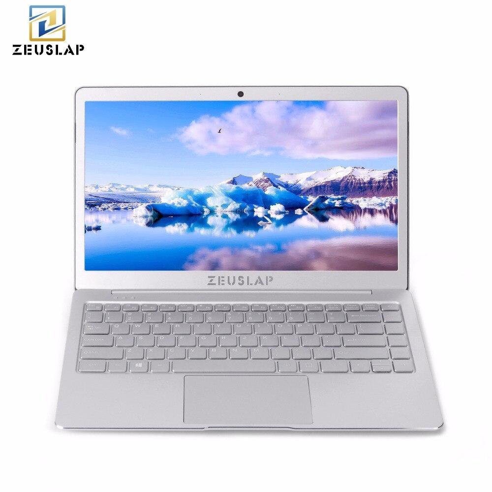 ZEUSLAP 8 ГБ оперативной памяти + 512 ГБ SSD 4 ядра Процессор Windows 10 Системы 13,3 дюйма 1920 * 1080P Full HD ips ультратонкий ноутбук Тетрадь компьютер