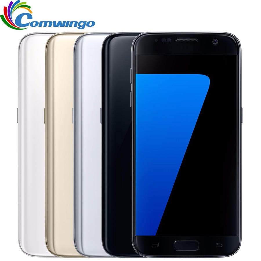 Original desbloqueado Samsung Galaxy S7 32 4 GB de RAM GB ROM Smartphones 5.1 ''12MP Quad Core NFC 4G s7 Android telefone Celular LTE